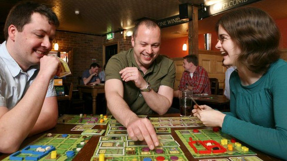 Board gamers in London