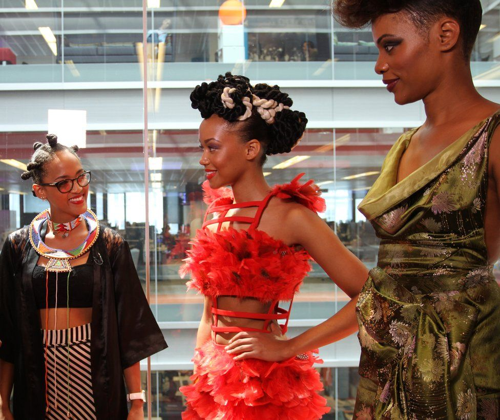 Organiser Odette Steele, left, and two models, middle, Maggie Smith and, right, Nathalie in Athena Bride