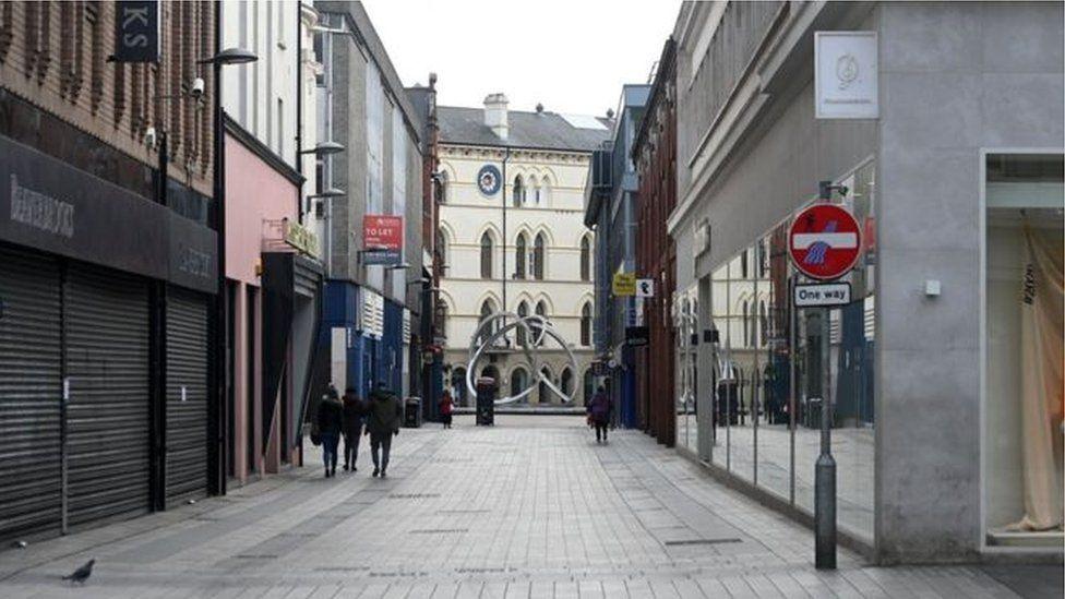 Empty street in Belfast