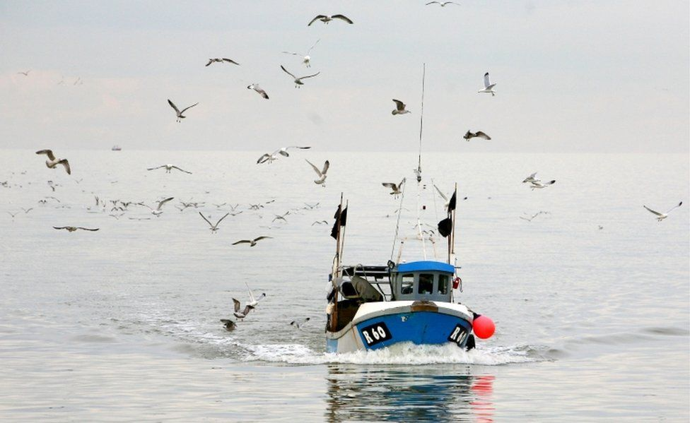 File photo dated 04/03/09 of a fishing boat in Kent