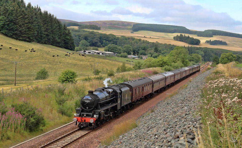 Steam-hauled train