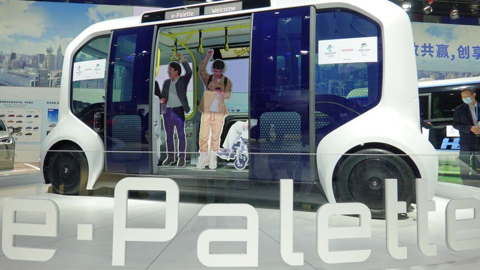 Toyota's e-Palette concept car was unveiled at the third International Import Expo. Shanghai, China, November 7, 2020.