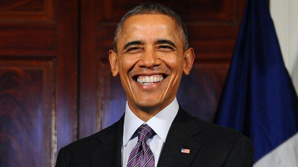 US President Barack Obama laughs in a photo from February 10, 2014 shows
