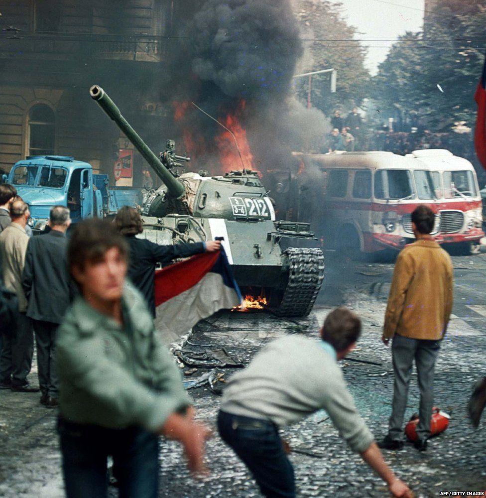 Tanks in Prague in 1968