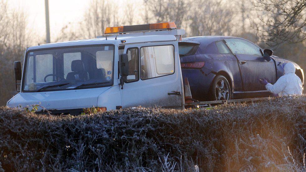 Constable Peadar Heffron's car removed