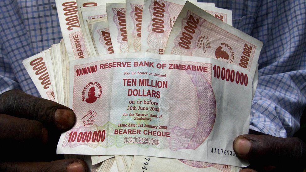 Zimbabwean 10 million dollar note