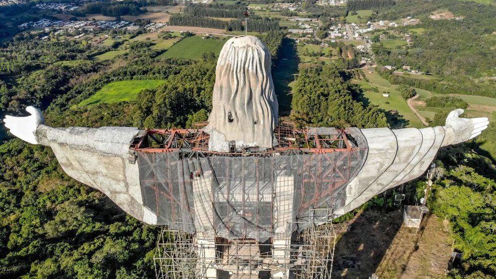 Christ the Protector statue, Encantado, Brazil
