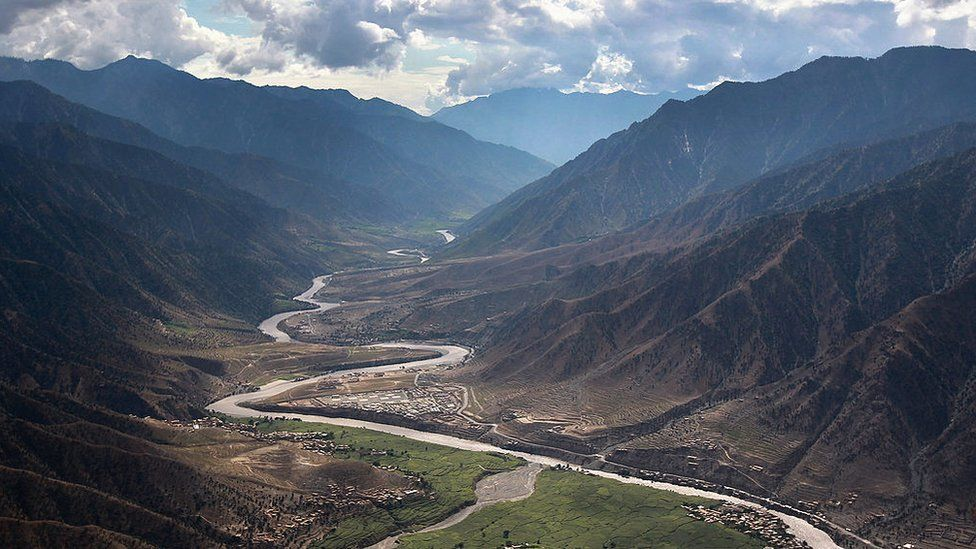 The Kunar River is located in northeastern Afghanistan near the Pakistan border