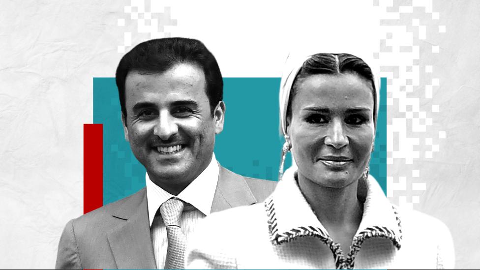 Tamim Al Thani and Sheikha Mozah bint Nasser
