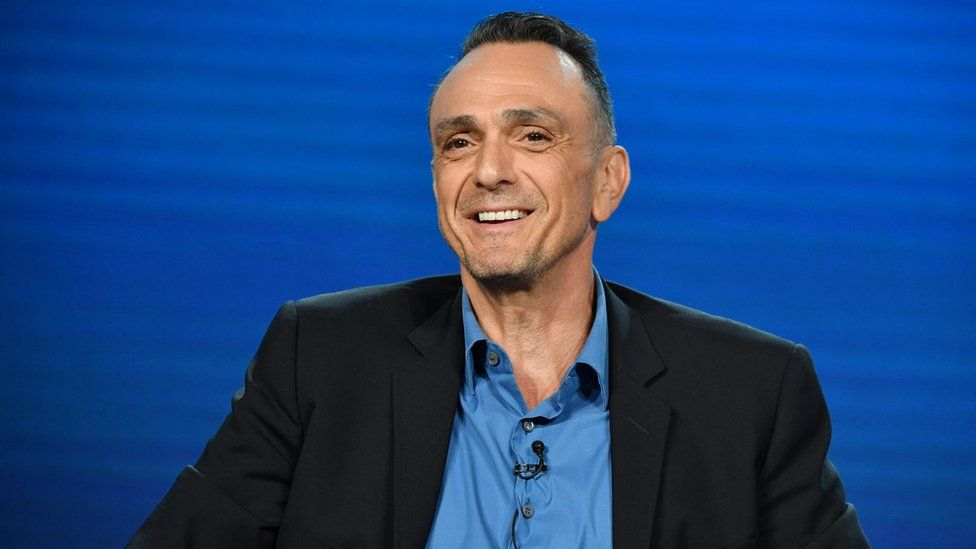 Hank Azaria speaks to the media in California on 16 January 2020.