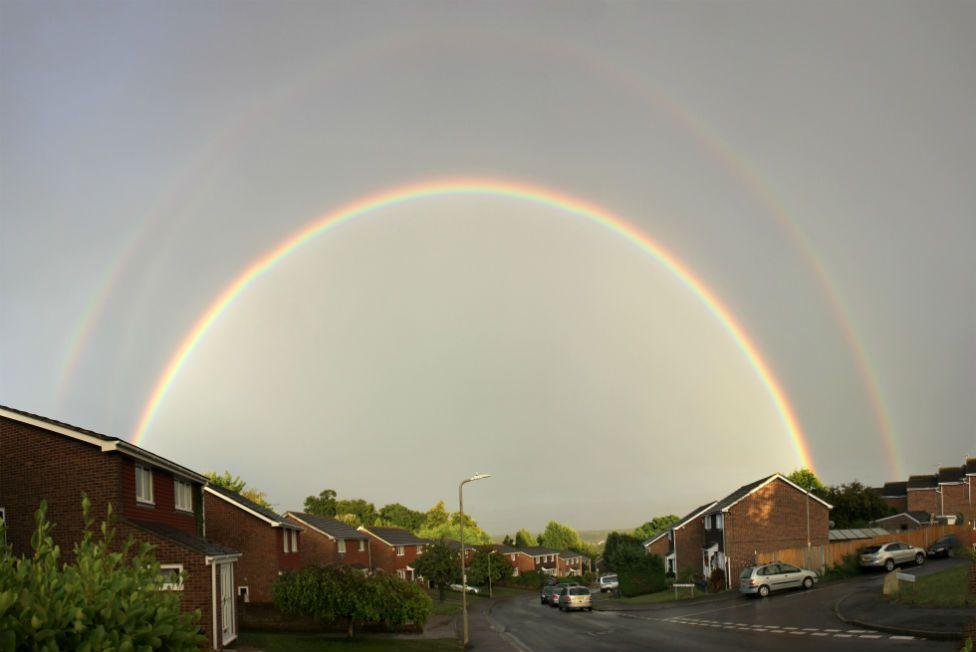 Double rainbow in Canterbury