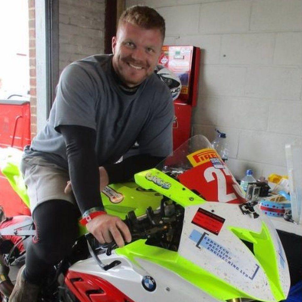 Mark Fincham on a motorbike