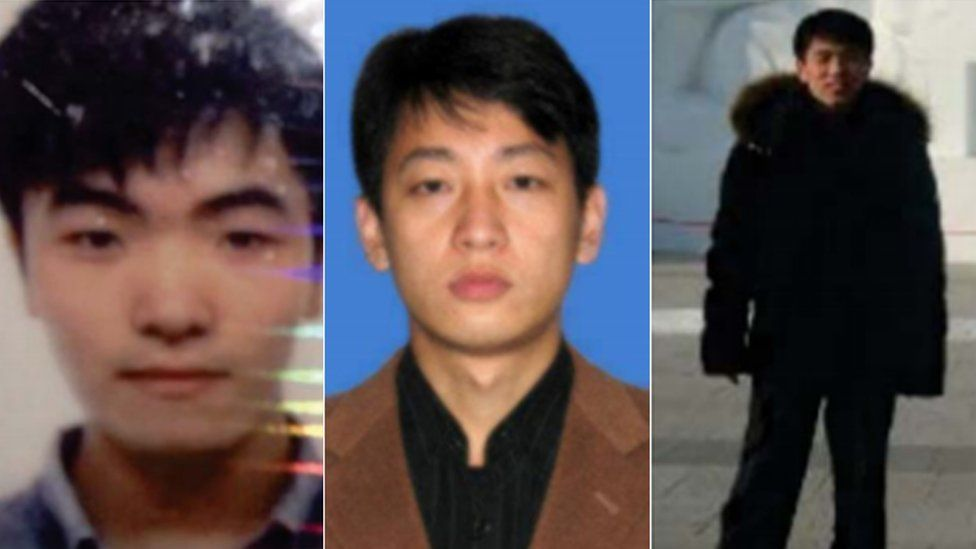 Kim Il, Park Jin Hyok, and Jon Chang Hyok in a three-part composite