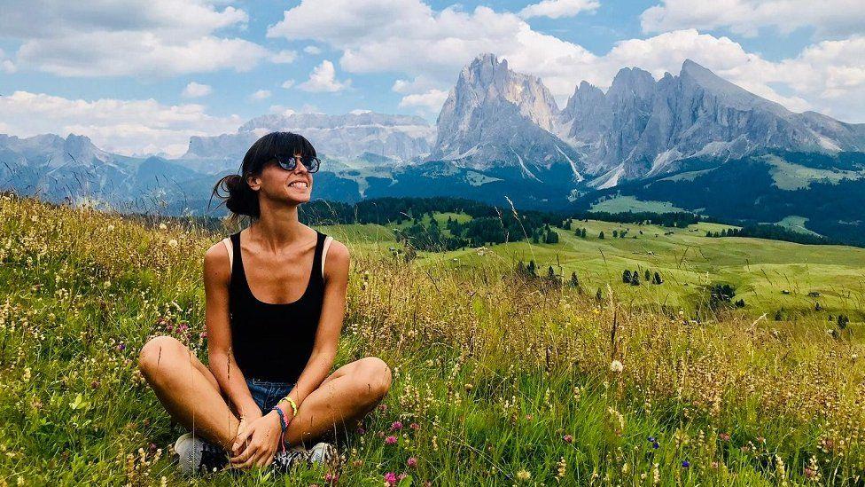 Elisa enjoys the mountains