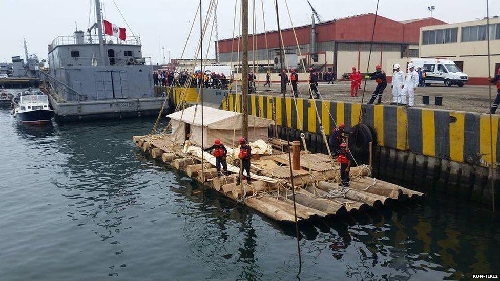 Kon-Tiki2 raft on water