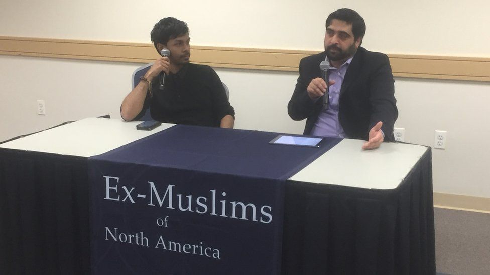 Imtiaz Shams and Muhammad Syed speaking in Washington DC
