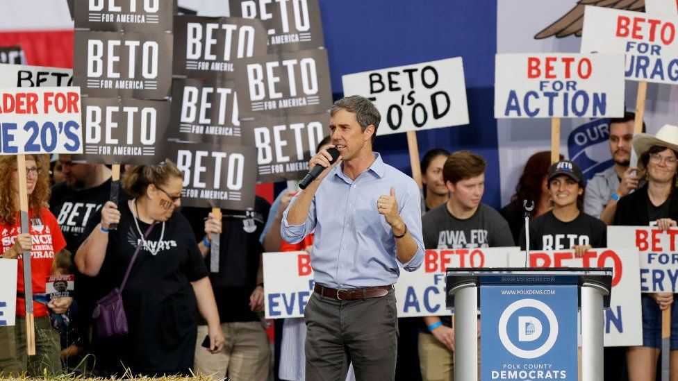 Beto O'Rourke addresses the crowds at the Polk County Steak Fry