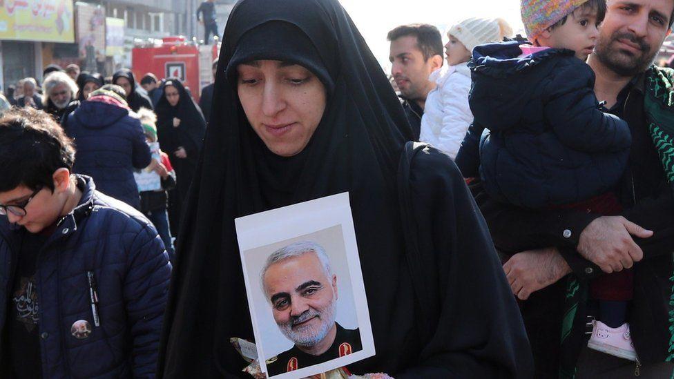 Funeral por Soleimani en Teherán.