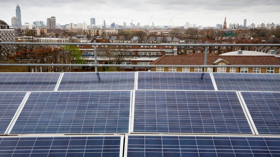 Solar panels in Brixton