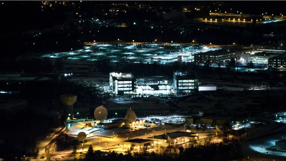 The NSA headquarters in Fort Mead, Maryland