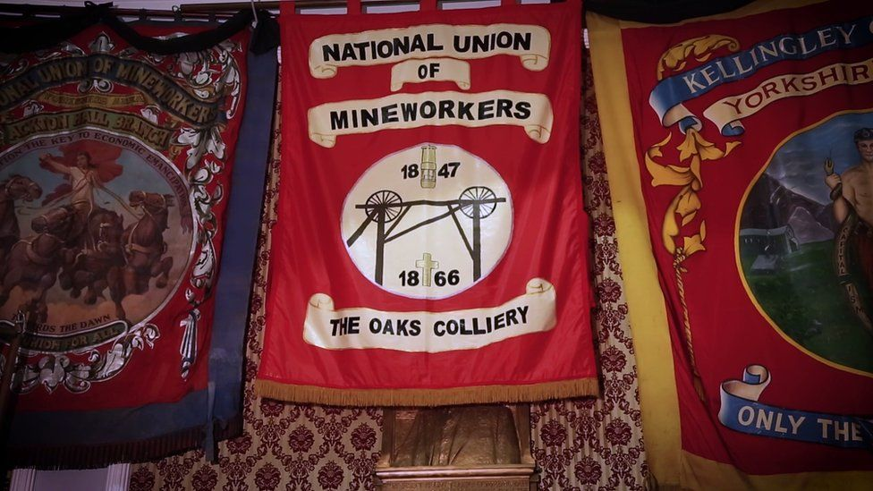 The Oaks Colliery banner