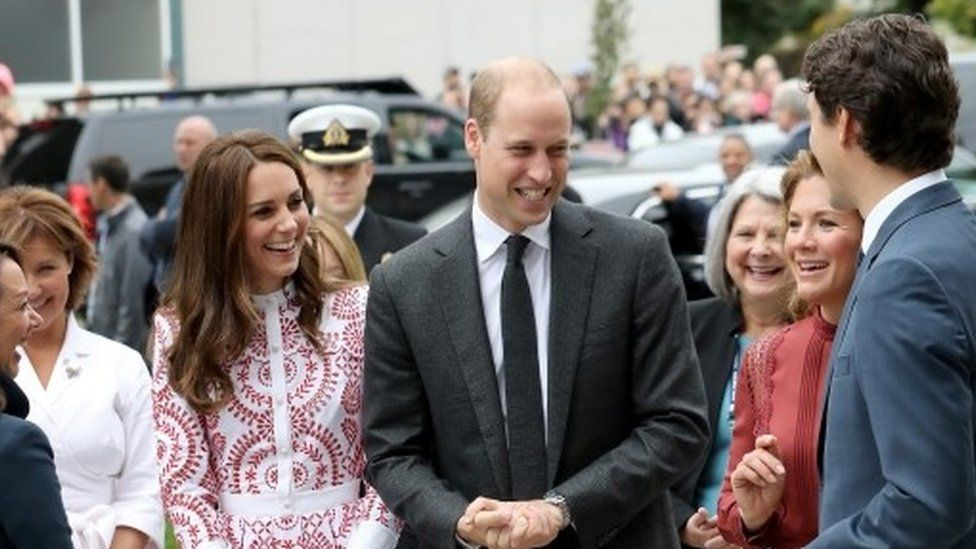 Duke and Duchess of Cambridge meeting Canadian Prime Minister Justin Trudeau and his wife Sophie Gregoire