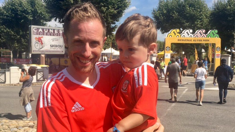 Tim Fry and his son Elliot