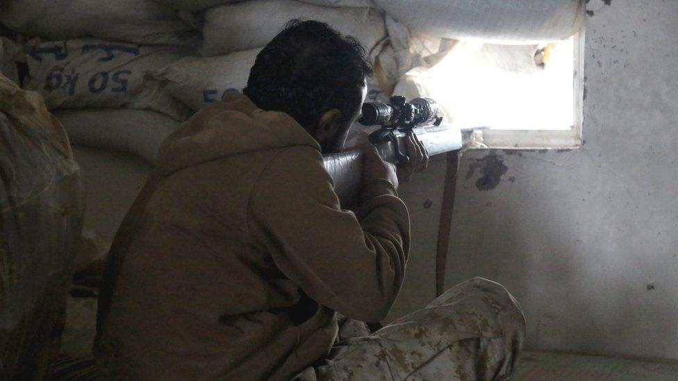 Sniper in Taiz, Yemen