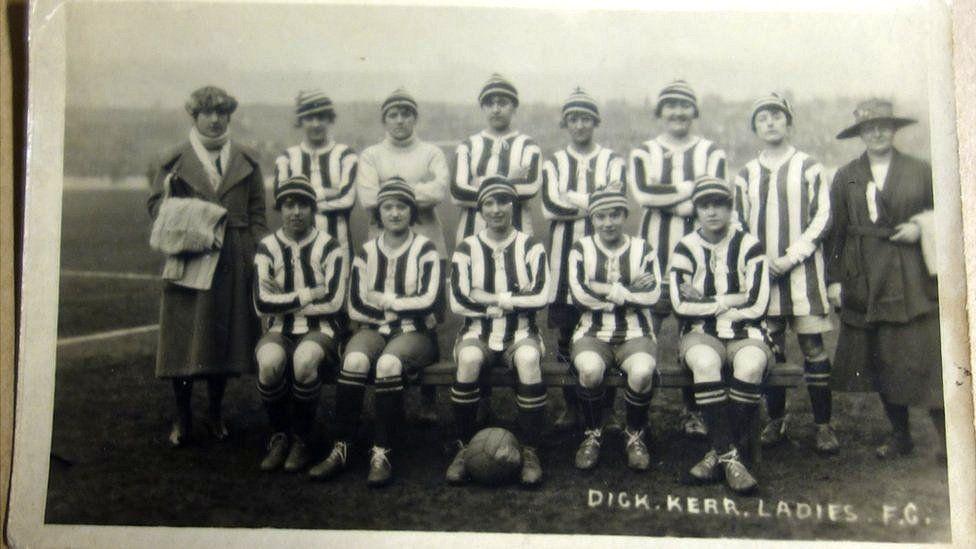 Dick, Kerr ladies postcard