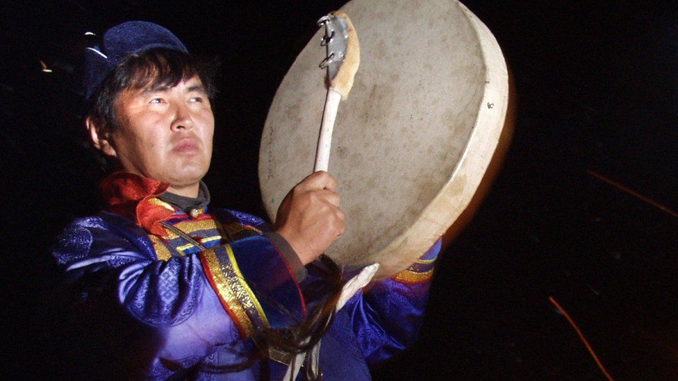 Shaman with drum