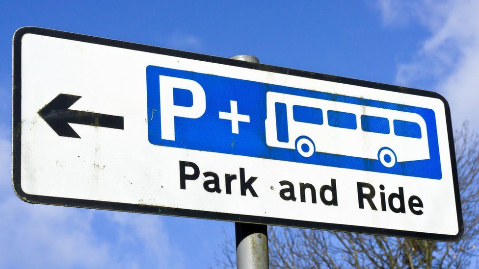 Park-and-ride sign