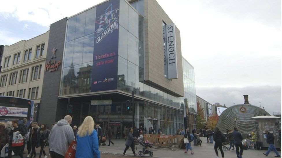 The St Enoch Centre is a large mall in the centre of Glasgow