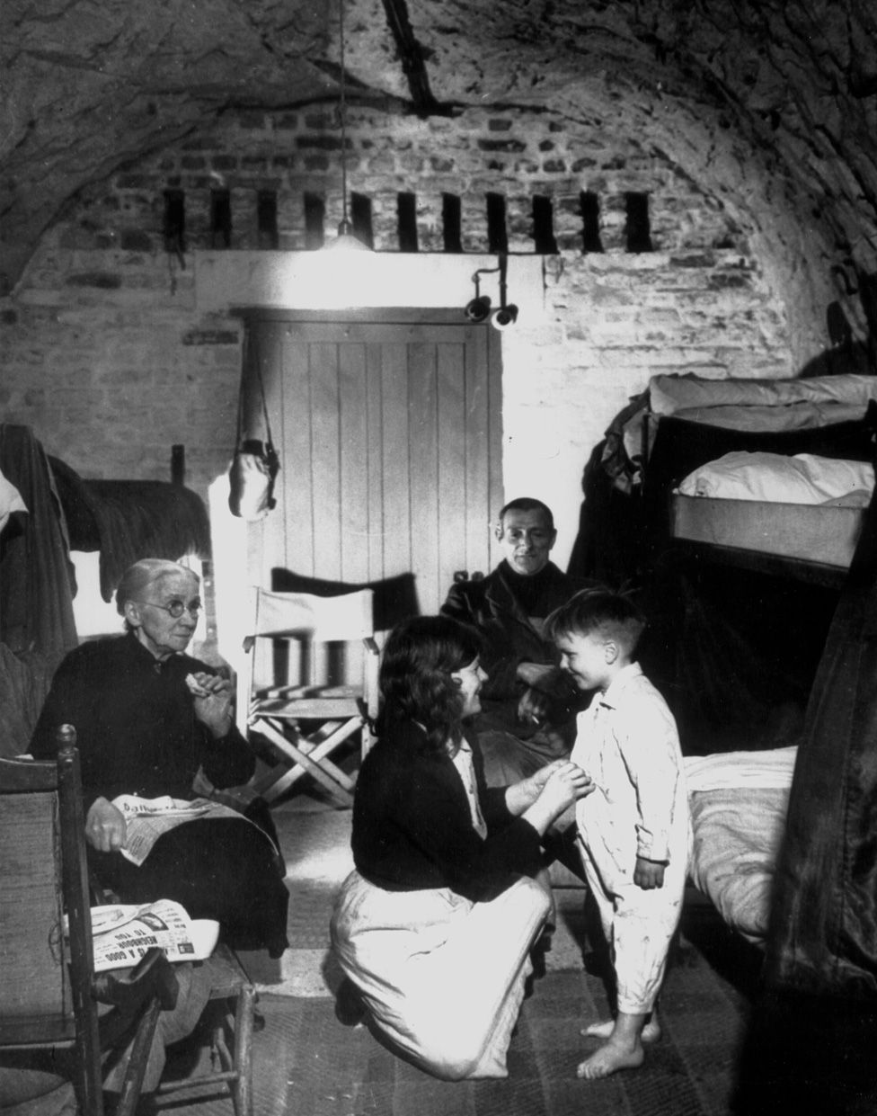 Residents finally got much needed rest, such as at Dover, because they couldn't hear the noise of the raids