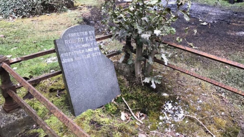 Damage to graves