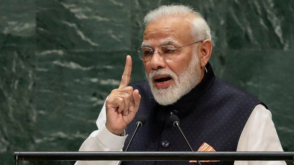 Indian PM speaking
