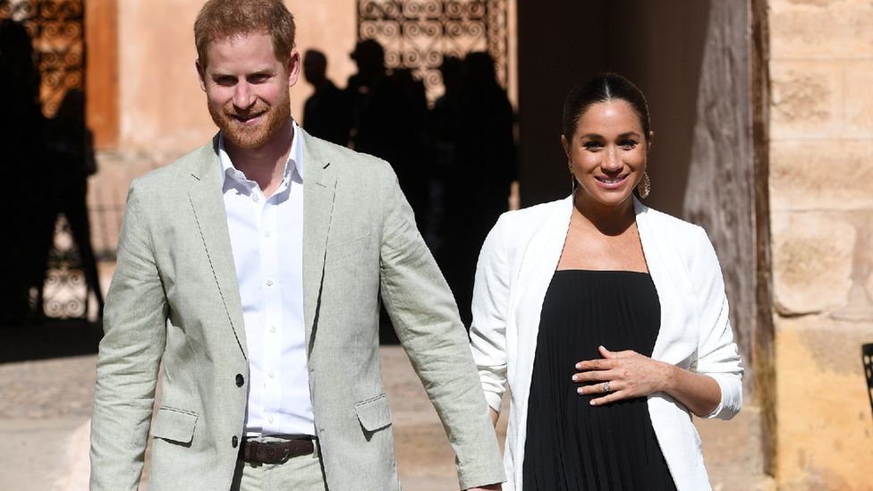 The Duke and Duchess of Sussex on a visit to Morocco in February