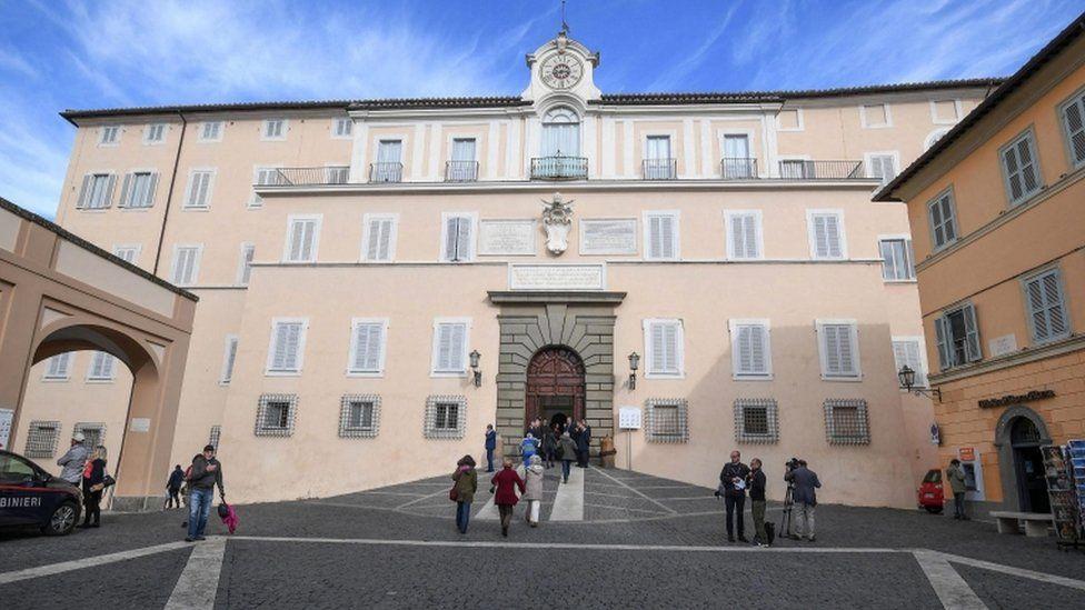 Outside view of the Apostolic Palace of Castel Gandolfo