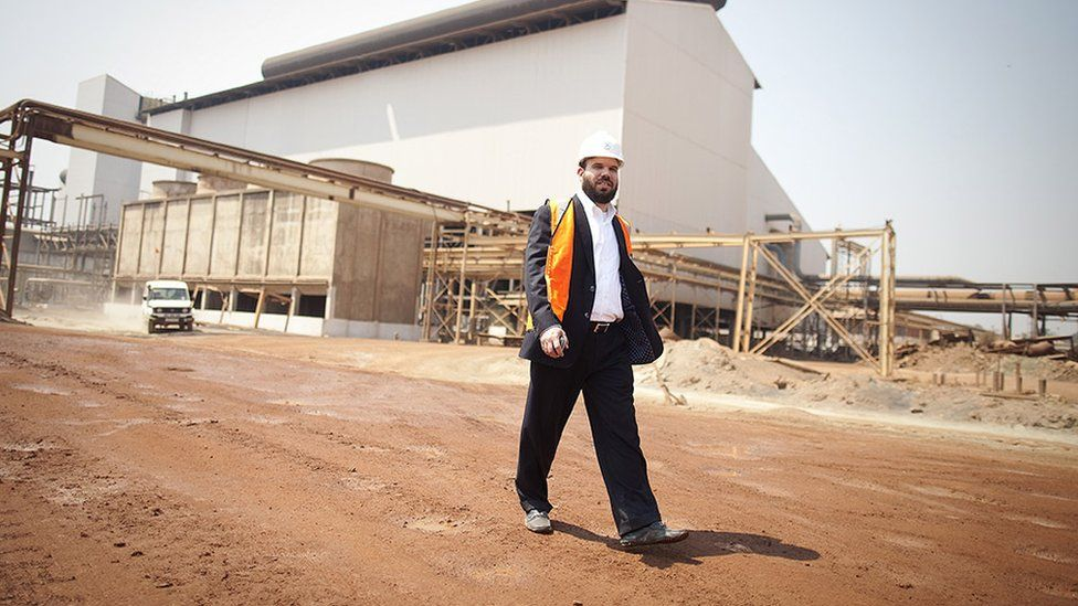 Dan Gertler walks through the Katanga Mining Ltd. copper and cobalt mine complex during a tour of the operations in Kolwezi, Democratic Republic of Congo, on Wednesday, Aug. 1, 2012.