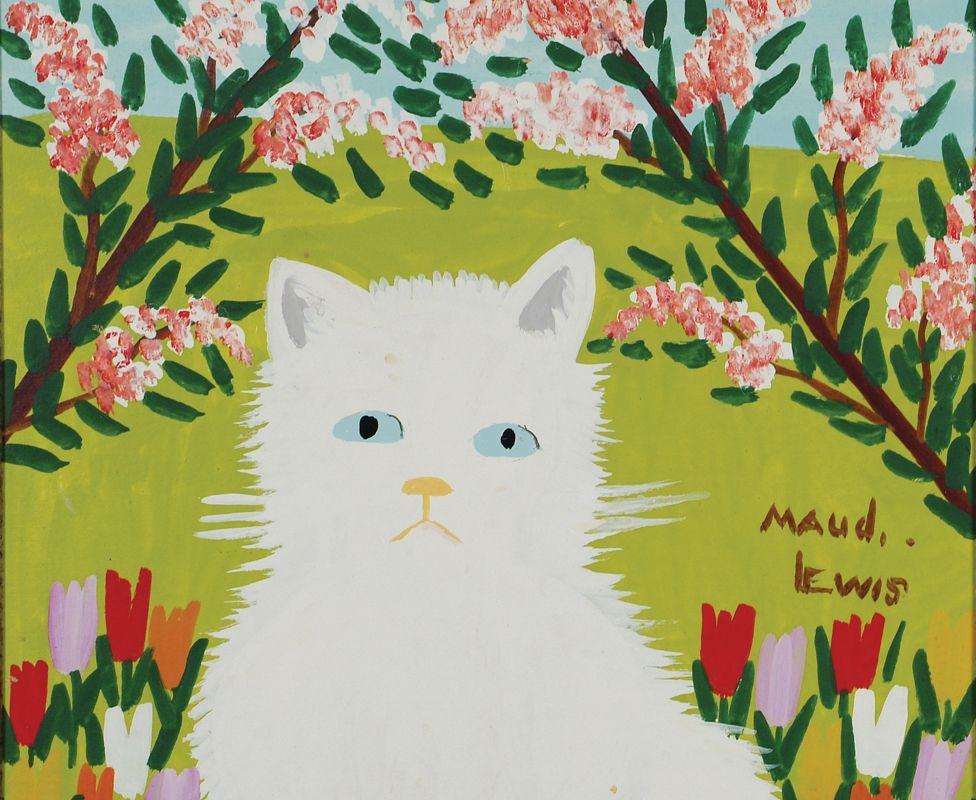 Maud Lewis painting of cat