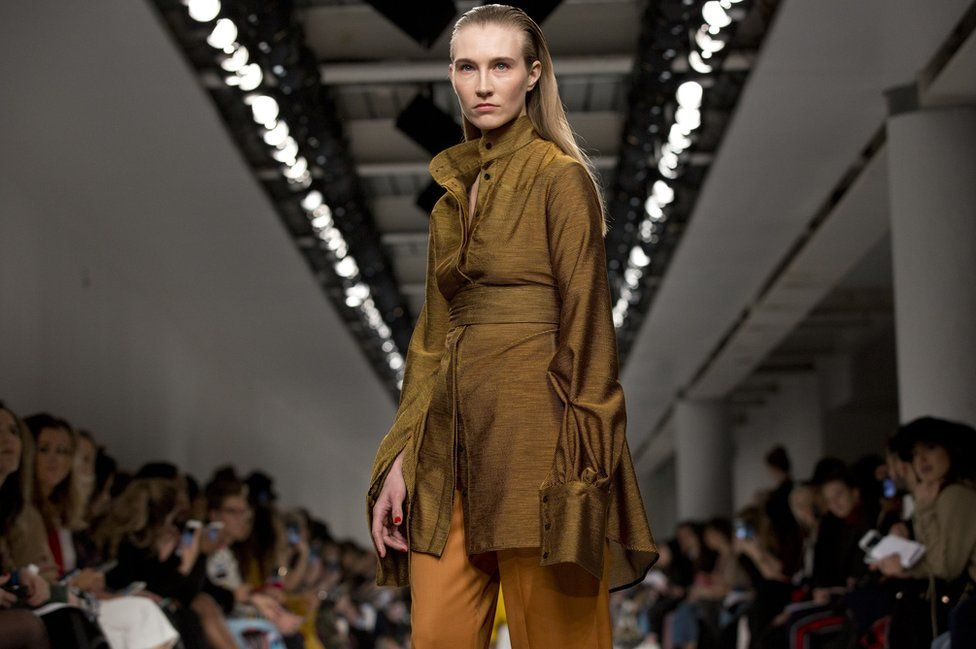 Disabled model Kelly Knox on the catwalk