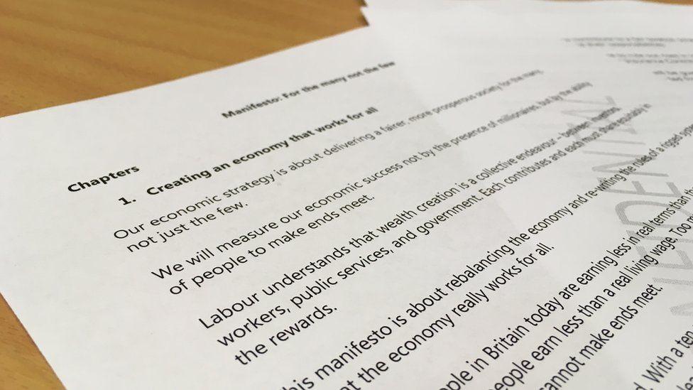 Draft Labour manifesto
