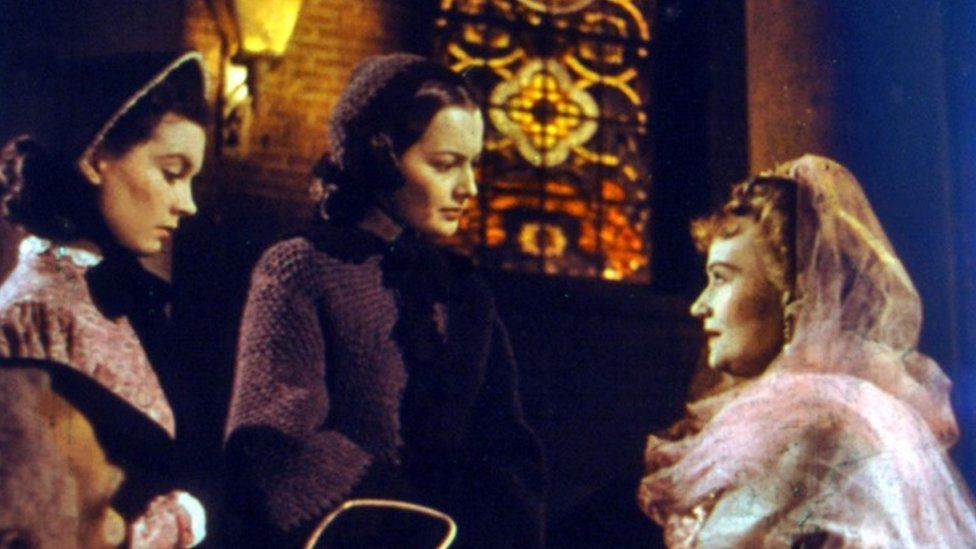 Vivien Leigh, Olivia de Havilland & Ona Munson in Gone with the Wind