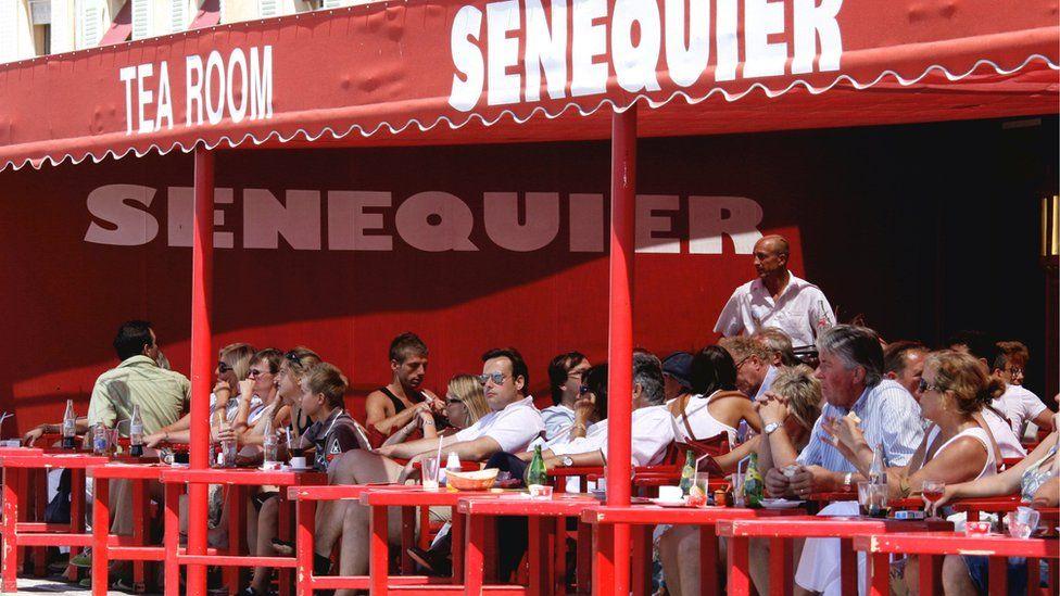 Cafe Senequier in Saint-Tropez, France,