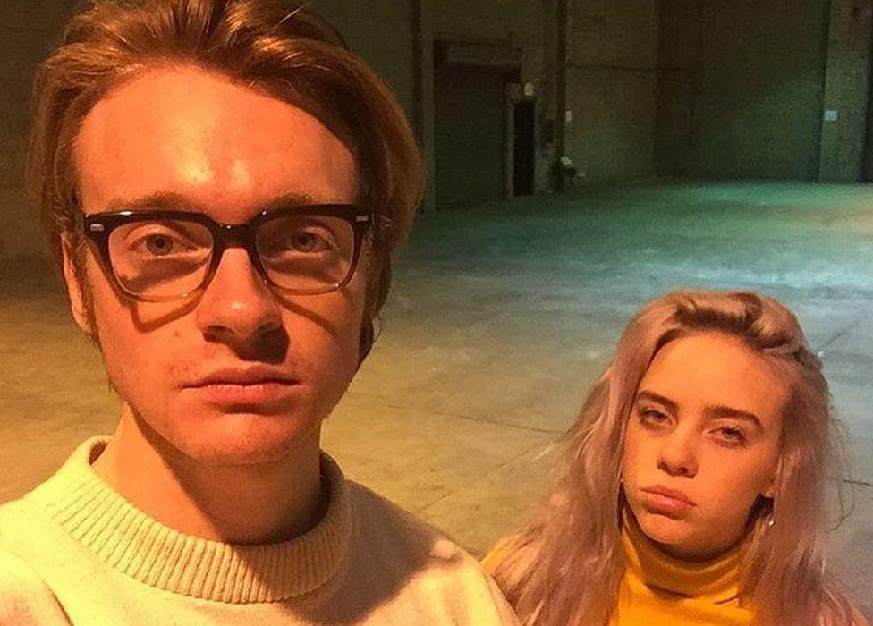 Finneas O'Connell and Billie Eilish