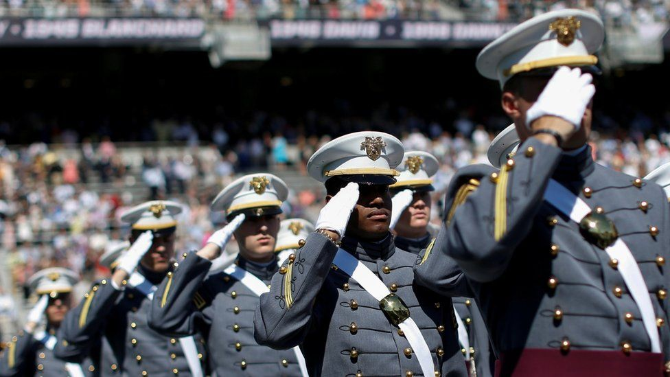 Graduates at West Point military academy in May