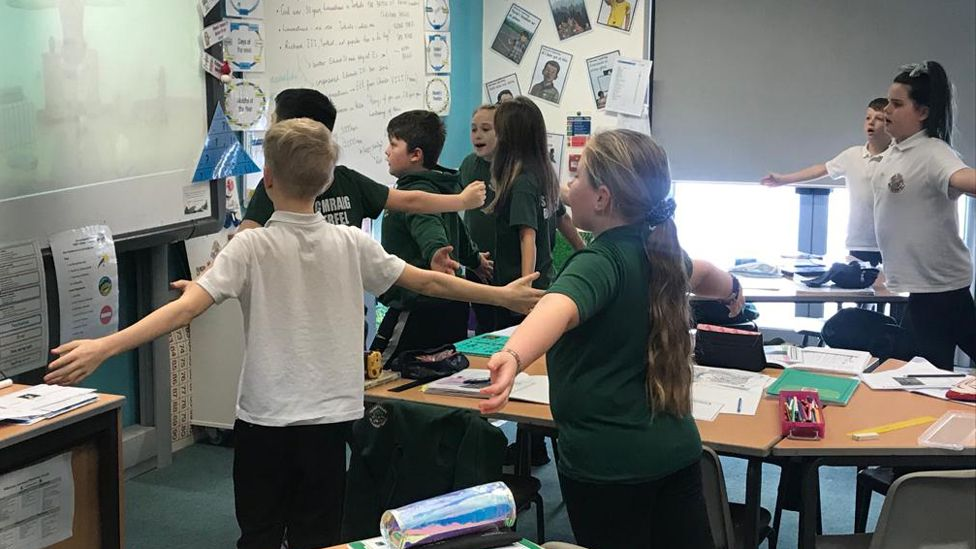 Daily yoga in class for pupils
