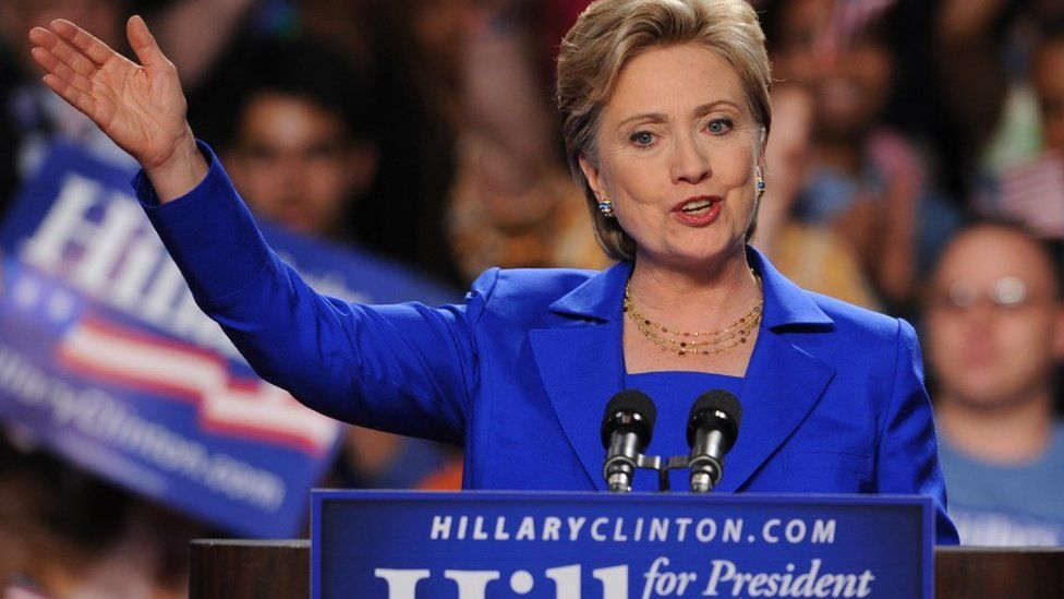 Democratic presidential hopeful Hillary Clinton in 2008