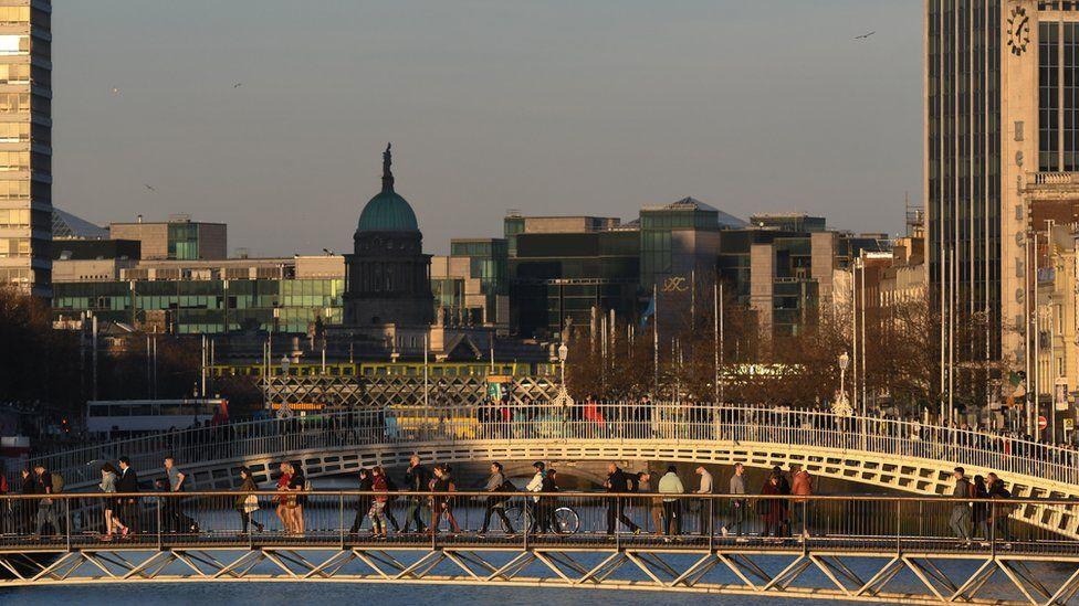 The Ha'penny Bridge in Dublin