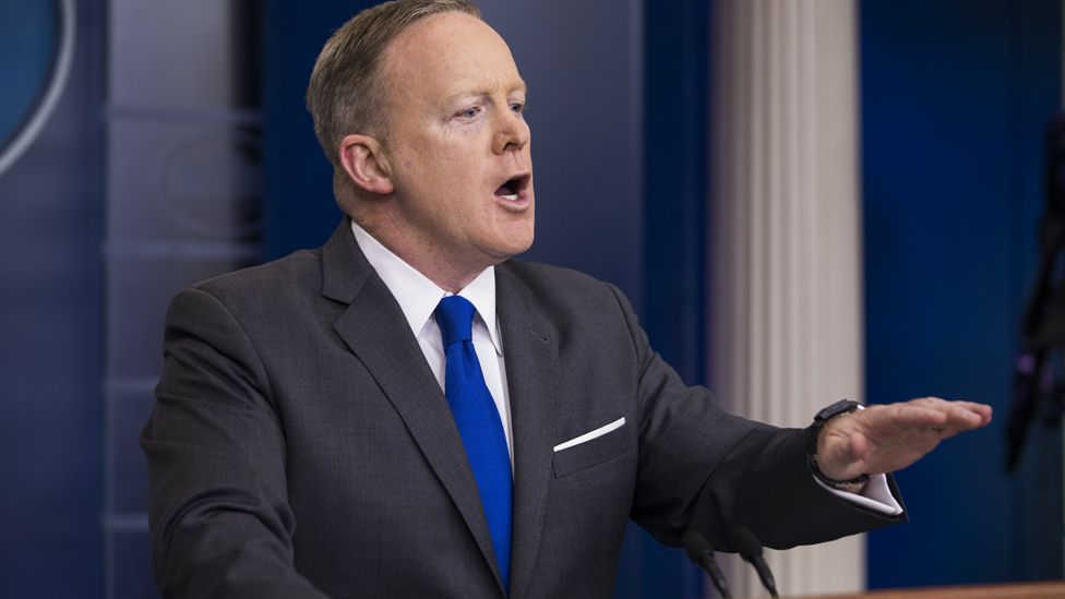 White House Press Secretary Sean Spicer takes questions from the media during his briefing at the White House in Washington, DC, USA, 20 March 2017