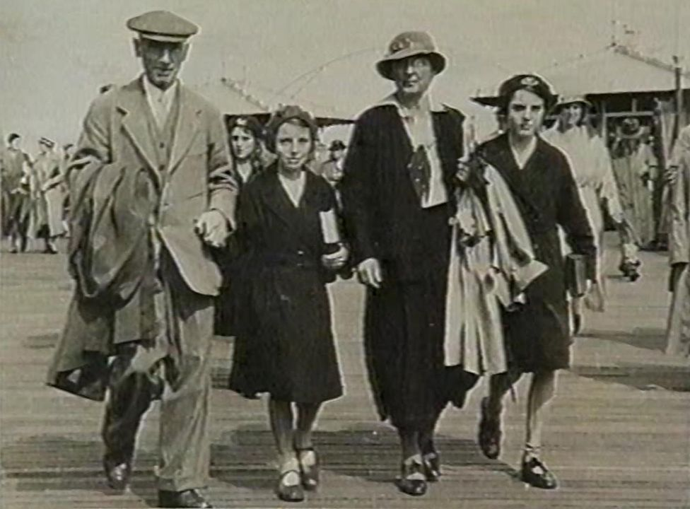 The Dodd family on a trip to Worthing, around the time they found baby Anthea